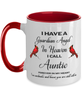 Auntie Memorial Cardinal Mug Guardian Angel Remembrance Two-Tone Sympathy Cup