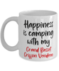 Grand Basset Griffon Vendeen Mug Happiness is Camping With My Dog Coffee Cup