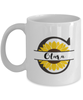 Clara Sunflower Mug Personalized 11 oz Coffee Cup for Home or Work