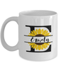 Emely Sunflower Mug Personalized 11 oz Coffee Cup for Home or Work