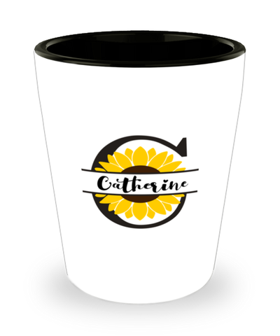 Catherine Sunflower Shot Glass Personalized Shotglass
