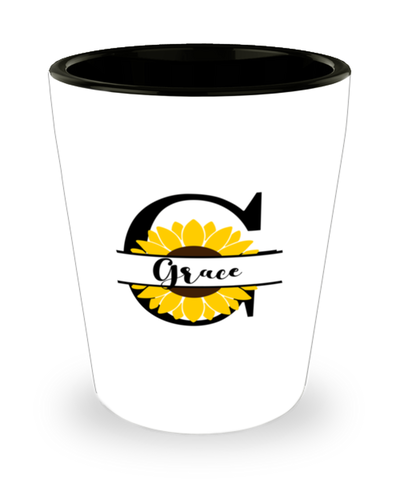 Grace Sunflower Shot Glass Personalized Shotglass