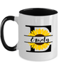 Emely Sunflower Mug Personalized 11 oz Two-Toned Coffee Cup for Home or Work