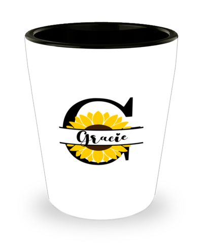 Gracie Sunflower Shot Glass Personalized Shotglass