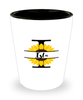 Isla Sunflower Shot Glass Personalized Shotglass
