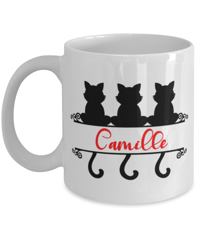 Camille Cat Lady Mug Personalized Funny Feline Mom Coffee Cup