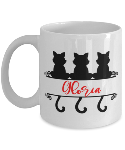 Gloria Cat Lady Mug Personalized Funny Feline Mom Coffee Cup
