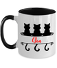 Gia Cat Lady Mug Personalized Feline Mom Two-Toned Coffee Cup