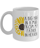 Father Memorial Sunflower Cup Big Hug in a Mug From Heaven Memory Keepsake