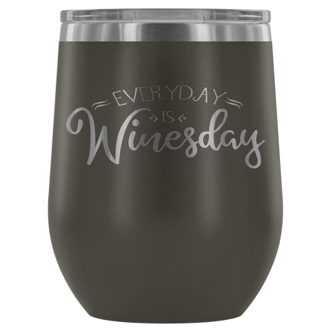 Every Day is Winesday Stemless Insulated 12 oz Polar Camel Wine Tumbler