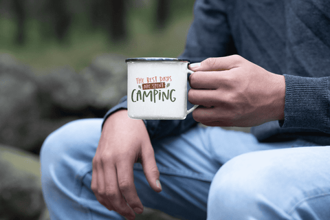 The Best Days Are Spent Camping Mug Camper Outdoor Adventure Coffee Cup