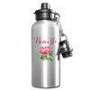 Namaste Lotus Water Bottle Gift Yoga Meditation Novelty To Go Container - silver