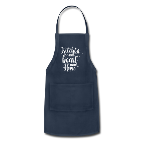 Kitchen The Heart of the Home Adjustable Apron Gift - navy