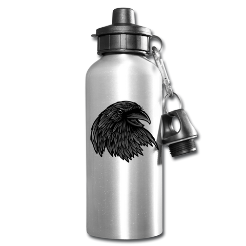 Funny Raven Water Bottle Gift Drink Your Water Drink Tracker - silver