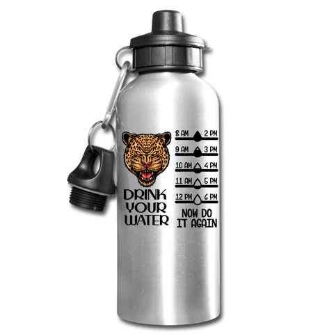 Funny Jaguar Water Bottle Gift Drink Your Water Drink Tracker - silver