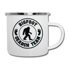 Bigfoot Search Team Camping Coffee Mug Novelty Sasquatch Hunting 12 oz Camper Cup - white