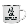 Bigfoot Spirit Animal Camping Coffee Mug Novelty Sasquatch Hunting 12 oz Camper Cup - white