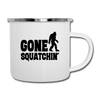 Gone Squatchin' Bigfoot Camping Coffee Mug Novelty Sasquatch Hunting 12 oz Camper Cup - white