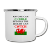 Only Welsh Can Cwtch Camping Coffee Mug Novelty 12 oz Camper Cup - white