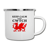 Keep Calm and Cwtch Camping Coffee Mug Novelty 12 oz Camper Cup - white