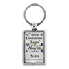 Sister In Memorial Butterfly Remembrance Gift Key Chain I Have a Guardian Angel in Heaven In Loving Memory Key Ring Keychain