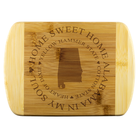 Home Sweet Home Alabama Bamboo Cutting Board Gift Alabama In My Soul