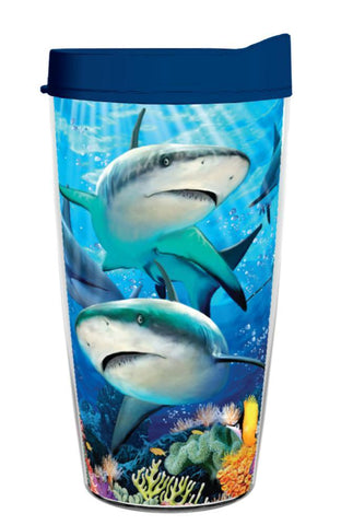 Shark Reef Wrap 16oz Tumbler Gift