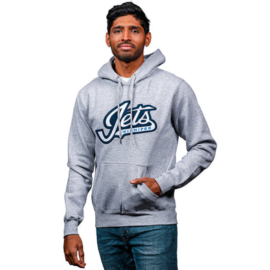 JETS GEAR WORDMARK HOOD GREY