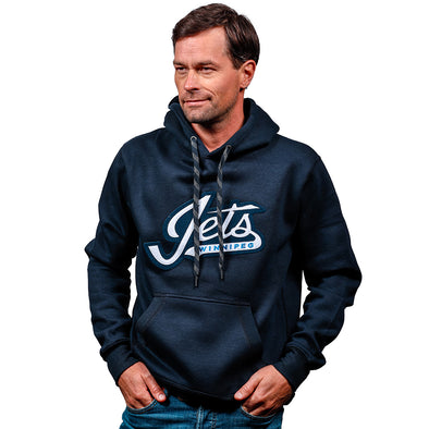 JETS GEAR WORDMARK HOOD NAVY
