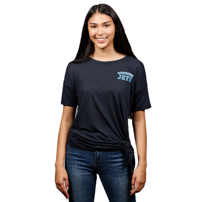 WOMEN'S SIDE TIE T-SHIRT - PLUS