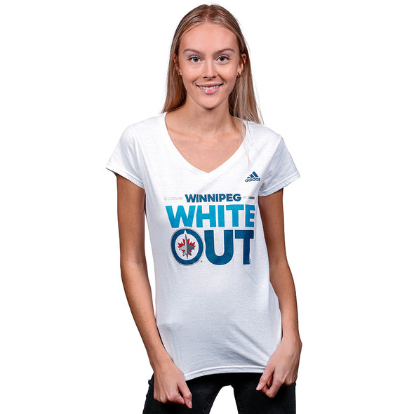WOMEN'S WHITEOUT BLOCK V-NECK