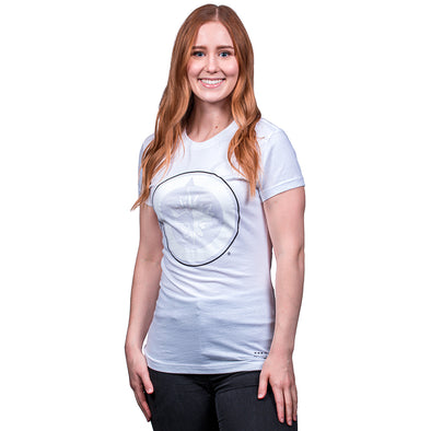 WOMEN'S M&N HD WHITE TEE