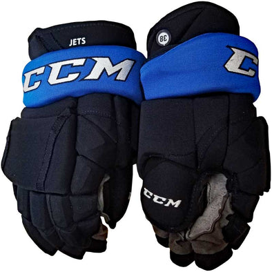 GAME USED HOCKEY GLOVES - 38 SHAW