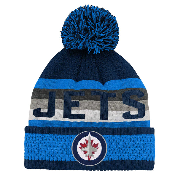 YOUTH JACQUARD KNIT POM TOQUE