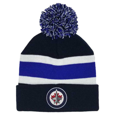 YOUTH STRIPED POM KNIT TOQUE
