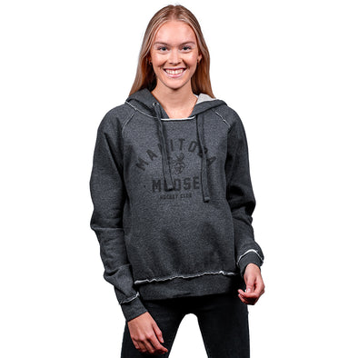 MOOSE WOMEN'S RAW EDGE HOOD - CHARCOAL