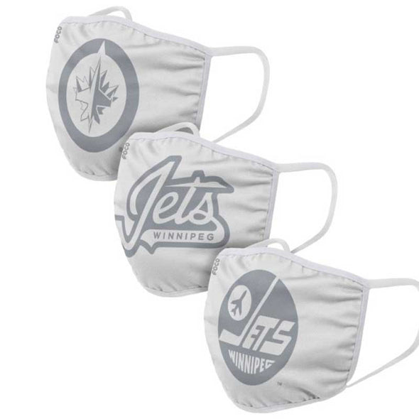 YOUTH 3-PACK WHITEOUT FACE COVERINGS