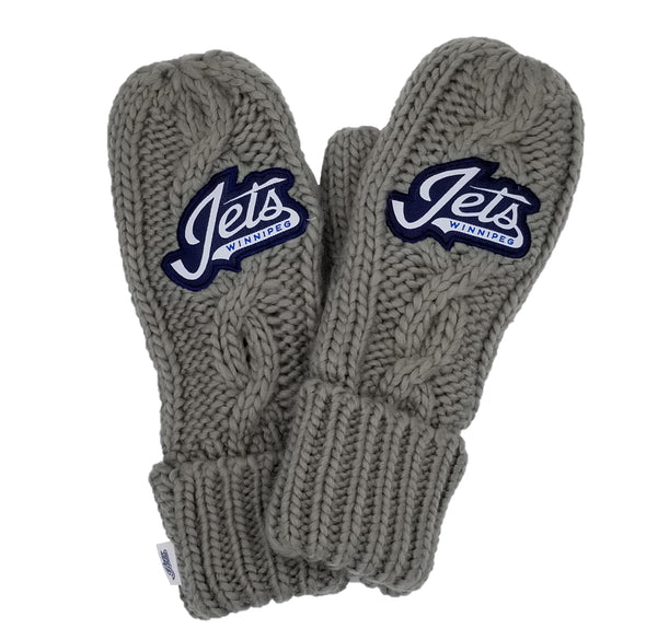 CABLE SET WORDMARK MITTS