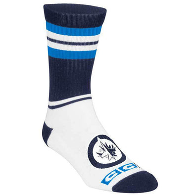 CCM STRIPE CREW SOCKS