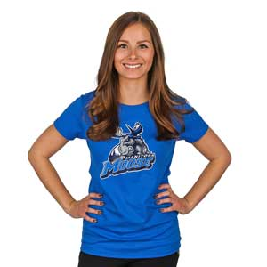 WOMEN`S MOOSE LOGO TEE - BLUE
