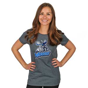 WOMEN`S MOOSE LOGO TEE - H-GREY