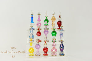 SMALL HAND BLOWN PERFUME BOTTLES