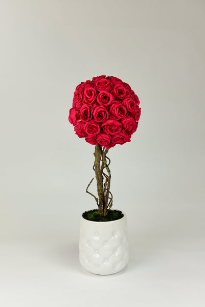 Roses with a White Pot