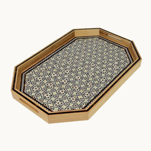Grand Mother of Pearl  Wooden Tray