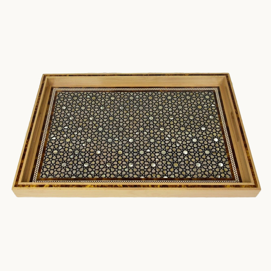 Grand Rectangular Wooden Tray