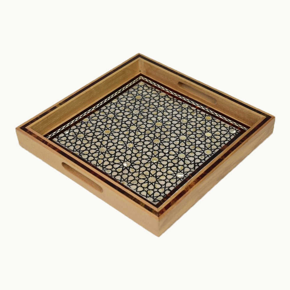 Large Square Wooden Tray