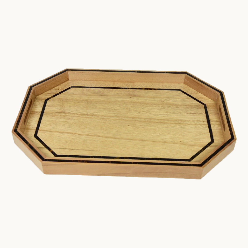 Large Mother of Pearl  Wooden Tray