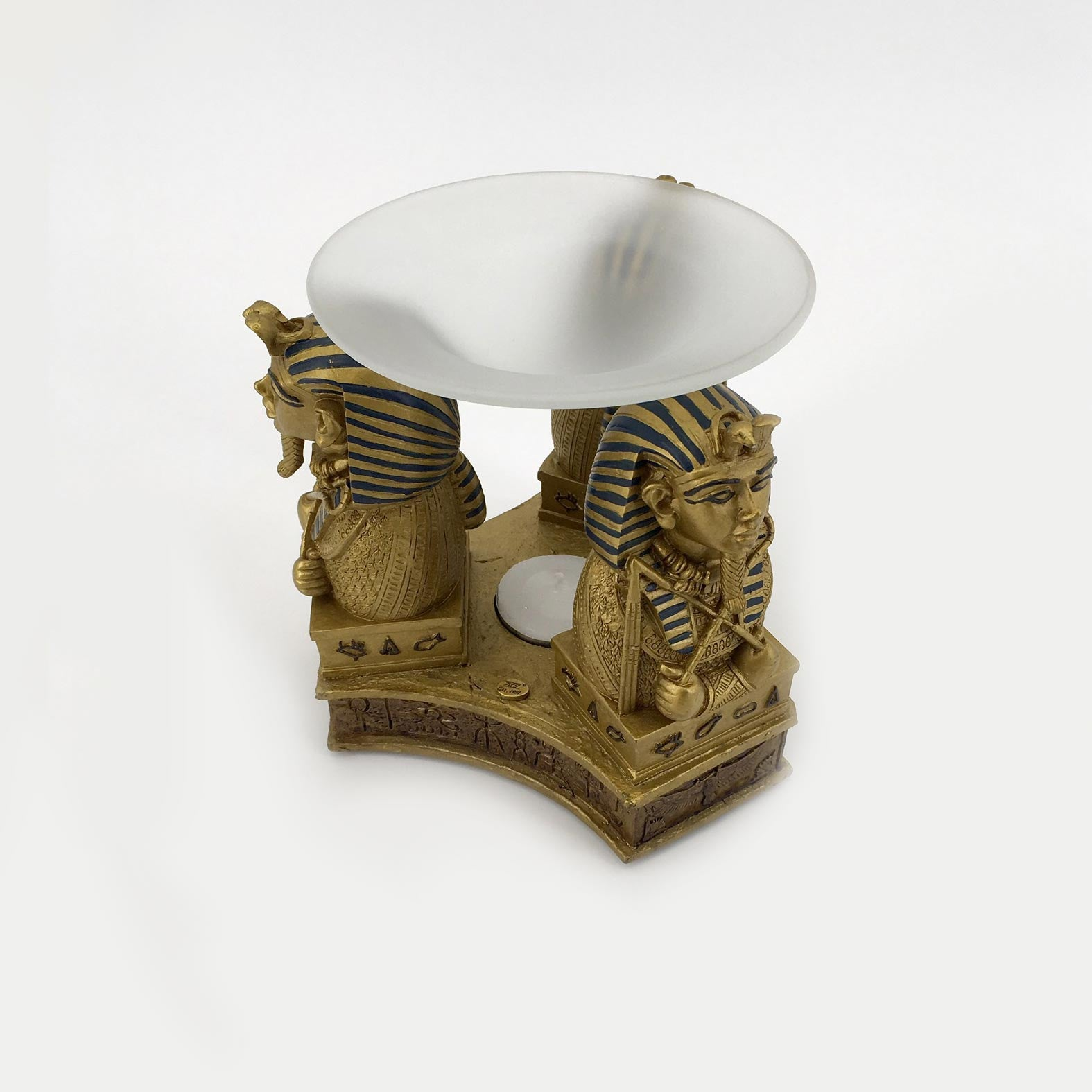 KING TUT BUST OIL BURNER