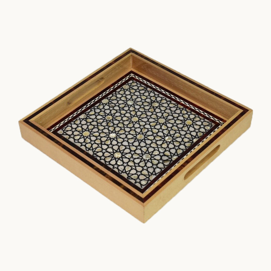medium Square Wooden Tray