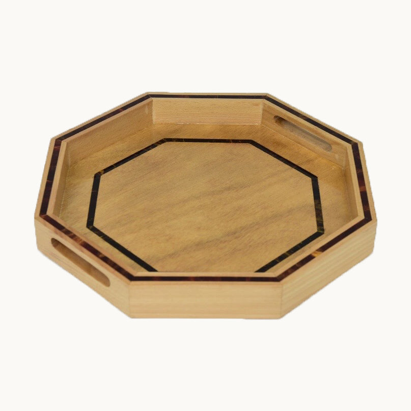 Small Hexagon Wooden Tray